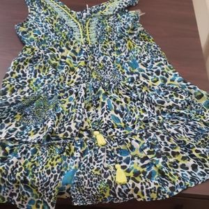 Womens high low beaded top new